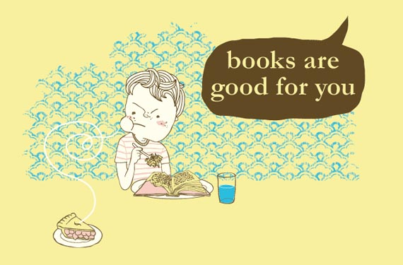 Books Are Good For You T-Shirt Design at Threadless.com