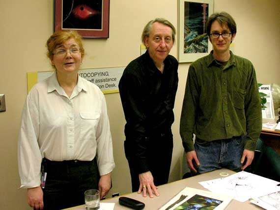 Lorna Toolis, Bryan Talbot, and Peter Birkemoe.