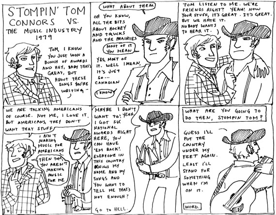 Stompin' Tom Connors, by Kate Beaton
