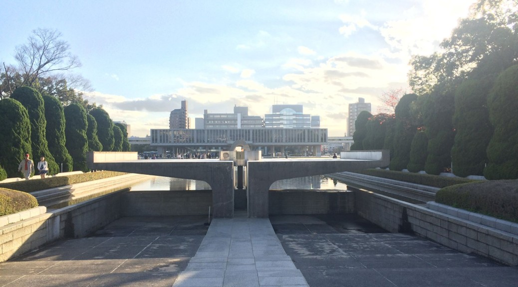 The Eternal Flame Monument at the Hiroshima Peace Museum.