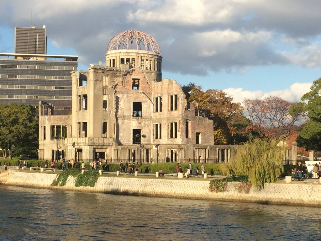 The Atomic Bomb Dome is a ruin left largely intact as a reminder of the devestation of the war. After visiting the museum, I sat for a long time directly across the river from this monument.